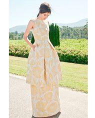 vestido-jacquard-amarillo-largo-campana