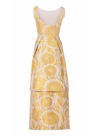 Vestido Jacquard amarillo vista espalda