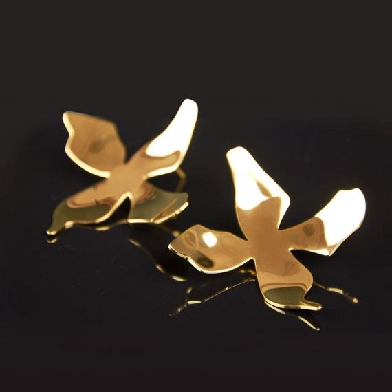 Pendientes metálicos dorados Nakai