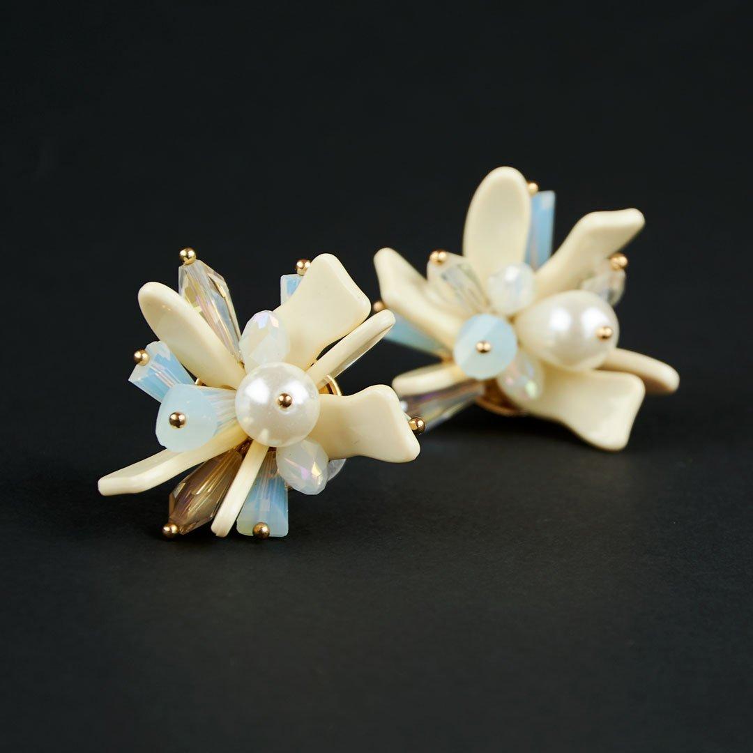Maxi pendiente de flor de metacrilato