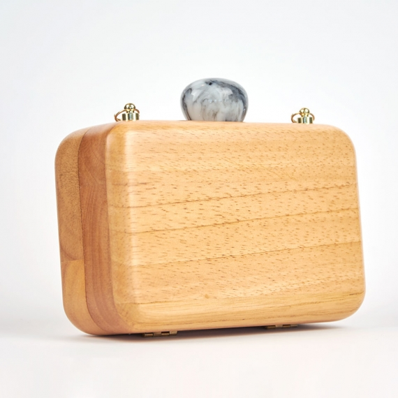 Clutch madera de bamboo lateral