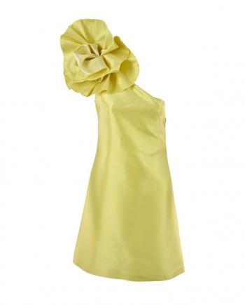 Vestido asimétrico de satén Gloria