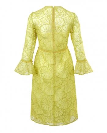 Vestido de organza bordada, Constanza