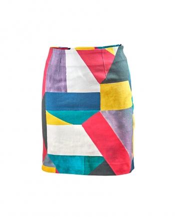 Falda mini Falda estampado geométrico