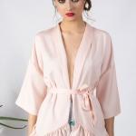 Kimono crepe rosa nude