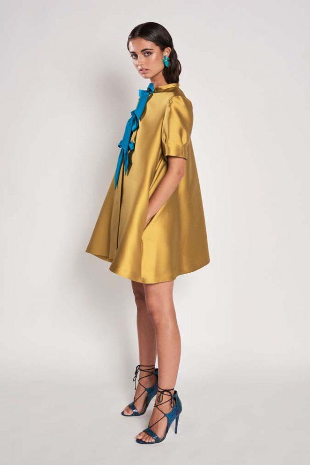 Vestido abrigo de vuelo confeccionado en Tussord Chanel